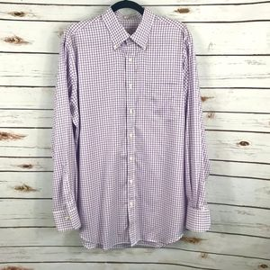 Peter Millar Purple Check Button Shirt Nanoluxe